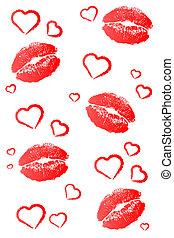 piros, megcsókol