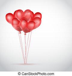 piros, romantikus, háttér