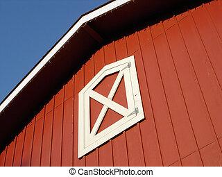 piros, tető, istálló