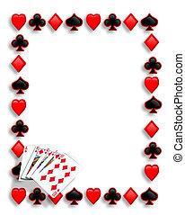 pirul, játék, határ, kártya, királyi, piszkavas