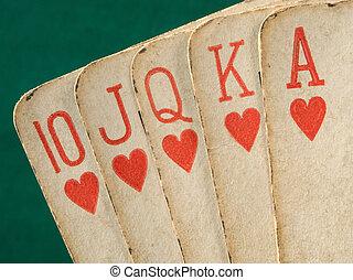 pirul, kártya, királyi, becsuk, öreg, piros, feláll., szüret, illeszt