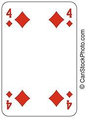piszkavas, gyémánt, játék kártya, 4