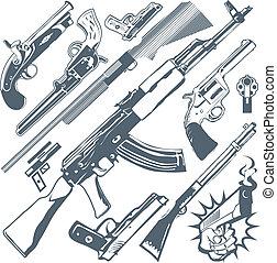 pisztoly, gyűjtés