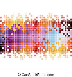 pixels, elvont, háttér, színes, digitális