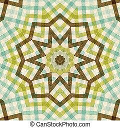 pléd, háttér, barna, textil, zöld, kék