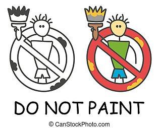 places., abbahagy, piros, terület, ember, prohibition., fehér, bot, ikon, furcsa, böllér, jelkép., nem, vektor, style., alkoholmérési tilalom, festék, elszigetelt, aláír, háttér., ecset, gyermekek