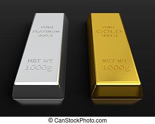 platina, arany, bugák