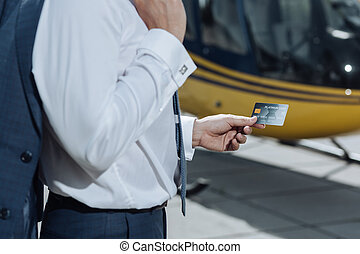platina, hitel, üzletember, kártya, kézbesít