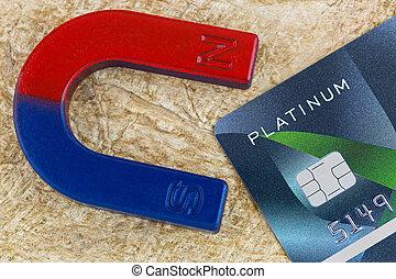 platina, rost, mágnes, hitel, dolgozat, vontatás, háttér, kártya