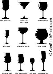 pohár, állhatatos, alkoholista