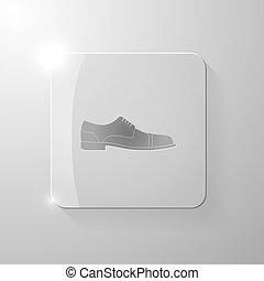 pohár, derékszögben, black cipő