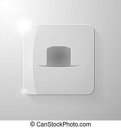 pohár, derékszögben, black kalap
