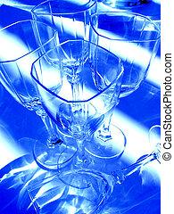 pohár, elvont, bor