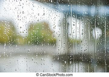 pohár, eső