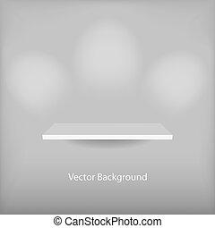 polc, vektor, üres, 3
