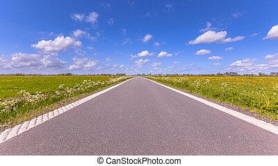 polder, hollandia, út