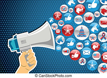politika, üzenet, elections:, előléptetés, bennünket