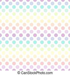 polka, színes, motívum, pont