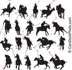 polo játékos, árnykép, részletek, 20
