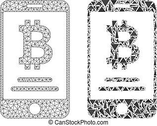 polygonal, beszámoló, mozgatható, bitcoin, 2, behálóz, mózesi, ikon