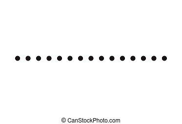 pontozott, egyszerű, jelkép, alakít, vektor, egyenes, ikon, design.