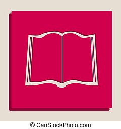 popart-style, cégtábla., grayscale, változat, vector., icon., könyv