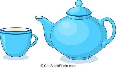 porcelánedények teapot, csésze