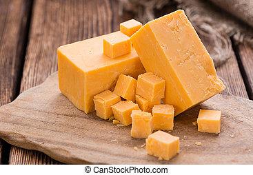 porció, cheddar sajt