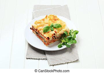 porció, lasagna