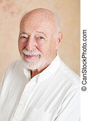 portré, ember, jelentékeny, idősebb ember
