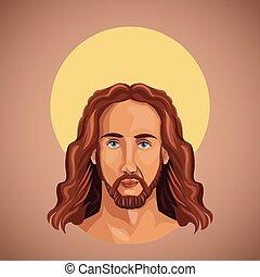portré, jesus christ, lelkiség
