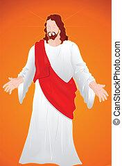 portré, krisztus, jézus