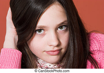 portré, meglehetősen lány