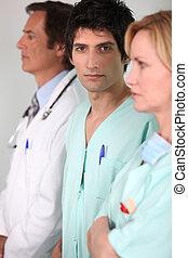 portré, orvosi sportcsapat