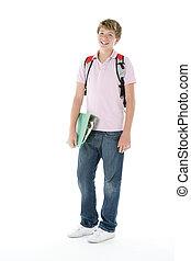 portré, tizenéves, iskolásfiú