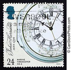postaköltség, 1993, bélyeg, kronométer, gb, tengeri