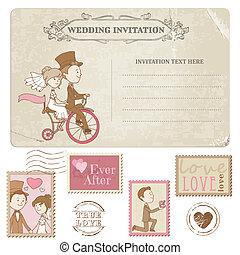 postaköltség, levelezőlap, -, tervezés, meghívás, topog, esküvő, scrapbook, gratuláció