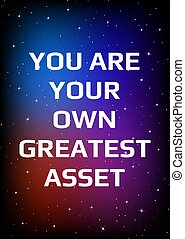 poster., nyomtat, csillagos, nyílik, ön, design., saját, motivációs, ég, nagy, style., asset., hely, -e