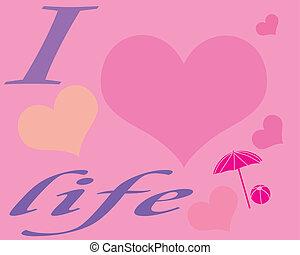 poszter, élet, szeret