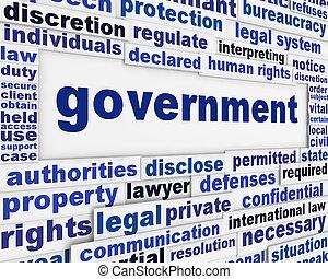 poszter, fogalom, kormány