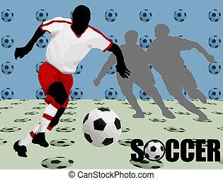 poszter, futball, tervezés