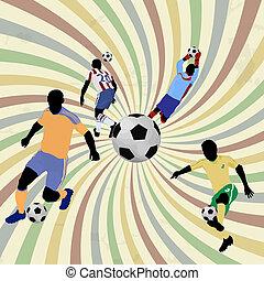 poszter, futball
