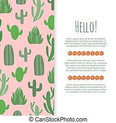poszter, -, kaktusz, tervezés, menstruáció, transzparens, dezertál