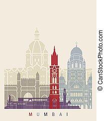 poszter, láthatár, mumbai