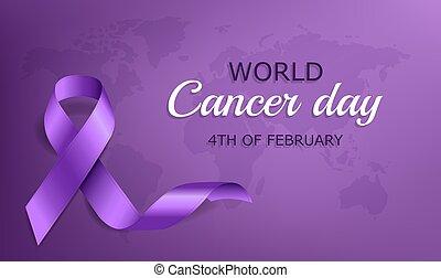 poszter, nap, világ, rák, szalag