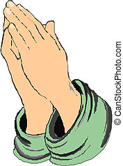 praying kezezés