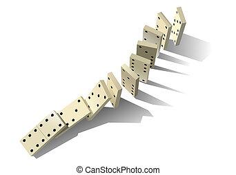principle., dominó, vektor, ábra
