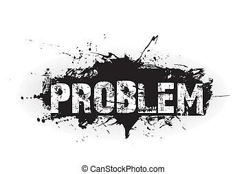 probléma, ikon, grunge