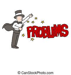 probléma kibogoz, varázsló