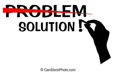 probléma, oldás